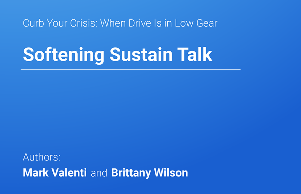Softening Sustain Talk - Mark Valenti & Brittany Wilson | MedBridge